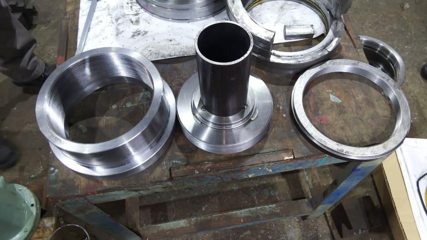 シリンダー使用ネジ部加工|製作実績|フェニックス工業